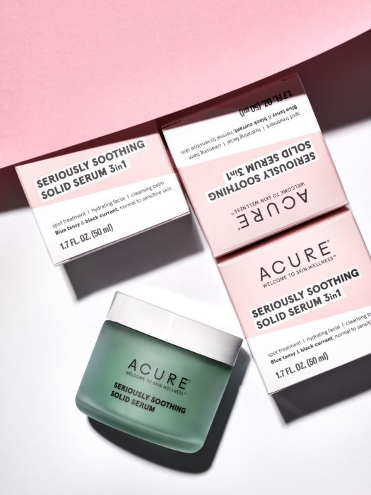 acure beauty, acure beauty review, clean beauty, clean beauty blog, clean beauty blogger, acure blue tansy, acure seriously soothing solid serum, acure skincare, acure serum,